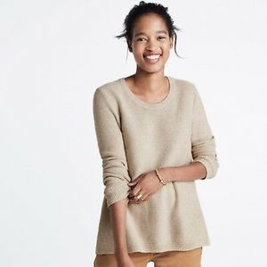 Madewell Cream Riverside Textured Sweater Medium
